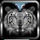 White Tiger Zipper Lock Screen by Manual Tech