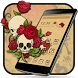 Rose Skull Tattoo Theme by Launcher Fantasy
