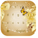Gold Neon Butterfly Keyboard by beautifulwallpaper