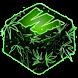 Green Weed Neon Keyboard by Premium Keyboard Themes