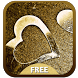 Gold Valentine Keyboard by Amazing Keyboard Themes