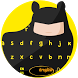 Black Cute Bat Knight Cartoon Keyboard Theme by Simon Pritchard