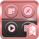 Pink and gray Launcher theme by SK techx for themes