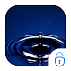 Aqua Droplet Locker Live Theme by Live.screen engineers