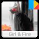 Girl & Fire Xperia™ Theme by Twenty Two