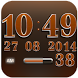 Digi Clock Widget Orange Star by Maystarwerk Clocks & Themes Vol.1