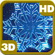 Christmas Crystal Snowflakes Whirl 3D by PiedLove.com Personalizations