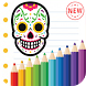 Adult Coloring for Sugar Skull