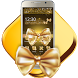 Gold Bow Glitter Theme by Launcher Fantasy