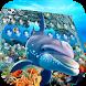 Underwater world adventure dolphins fish keyboard