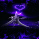 Purple Candle Heart LWP by Daksh Apps