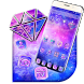 Galaxy pink bluish Theme by stylish android themes