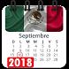 Calendario 2018 Mexico con festivos semana santa