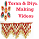 Toran Making Design & Diya Decoration Idea Videos by Gujju Rockstars