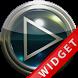 Poweramp Widget Lightblue Glas