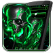 Green Fire Skull Theme by Launcher Fantasy