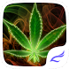 Neon Weed Rasta Smoke Emerald by free cool launcher theme