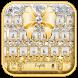 gold shining bowknot keyboard by Keyboard Theme Factory