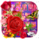 Color Rose Butterfly Love Keyboard