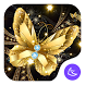 Shine Golden Fantastic Butterfly-APUS Launcher by CoolAppPub