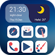 Blue Night Ivy Launcher Theme by TheMe @IVYMOBI