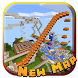 Long amusement ride. MCPE map by LuckyD