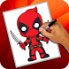 How to Draw Deadpool by Seventeen Studio Apps