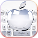 Crystal Apple Keyboard Theme by NYC Beauty Themes