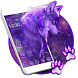Spiky snow Wolf Theme by stylish android themes