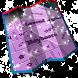 Lavender galaxy Keyboard by Key Themes
