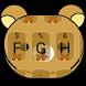 Cute Yellow Bear Theme&Emoji Keyboard by Music Emoji Keyboard Theme
