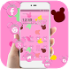 Pink cute mouse wallpaper & lock screen by Theme and keyboard design team