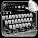 black silver keyboard shining butterfly diamond by Keyboard Theme Factory