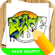 how to draw graffiti step by step by Skeleton Studio