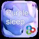 Purple Sleep GO Launcher Theme by Freedom Design