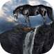 Horse at the waterfall live wp by Attunable