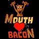 Snake (Mouth Loves Bacon) by Digital Keg LLC