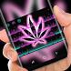 Marijuana Keyboard Neon Purple Weed Theme by Super Hot Themes Design Studio