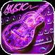 Neon Guitar Music Keyboard Theme by Creative Beauty Studio