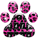 Pink and Black Cheetah Fur Keyboard Theme