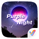 Purple Night 3D V Launcher Theme
