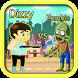 Dizzy vs zombie in the city by canvasdeva