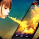 Leisure magic fire screen by pursue
