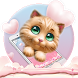 Pink Sweet Heart Kitty Theme by Colourful Theme