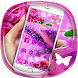 Purple rose 3D crystal theme by Best Custom Theme