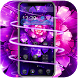 Cool purple flower wallpaper & lock screen by Theme and keyboard design team