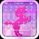 Pink Unicorn Keyboard by BestThemes