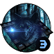 Hungry Wolf Moon Night Keyboard by Bestheme Keyboard Designer