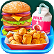 School Lunch Food - Burger, Popcorn Chicken & Milk by Kids Crazy Games Media