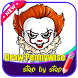 Draw Pennywise Step by Step by Dapur Pacu